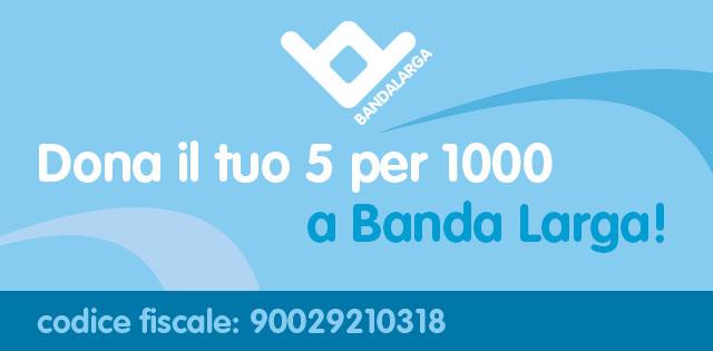 5 per 1000 a Banda Larga